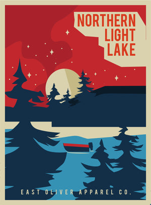 Northern Light Lake Print