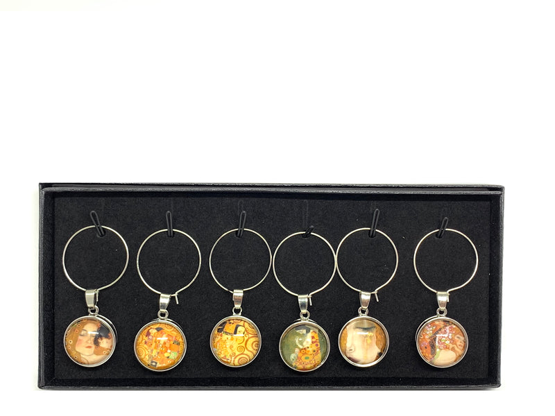 Wine Charms - Klimt Art