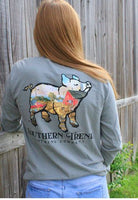 ST Light Gray Farm Pig Long Sleeve