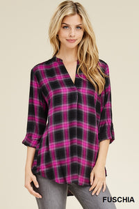 The Fiery Fuchsia Plaid