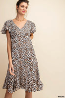 Leopard Rayon Crepe Dress