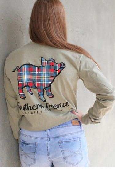 ST Sandstone Plaid Pig Long Sleeve