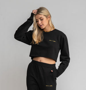 LOA X LABEL Cropped Crewneck Sweatshirt