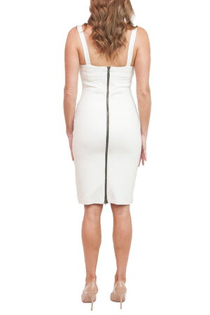 Jennifer Stretch White Dress
