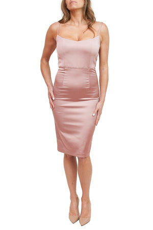 Joelle Blush Satin Dress