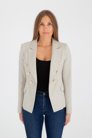 Sophia Gold Button Stone Blazer