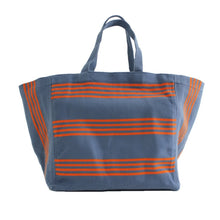 Load image into Gallery viewer, Large tote bag Blue/Orange
