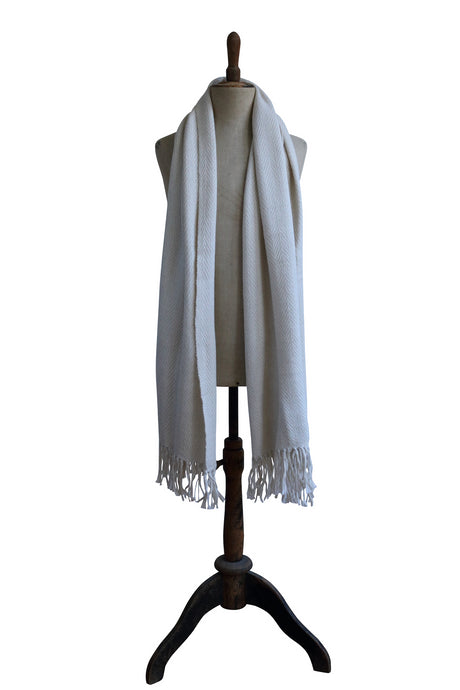 Medium white scarf
