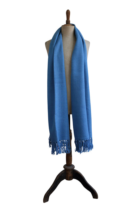 Large blue scarf