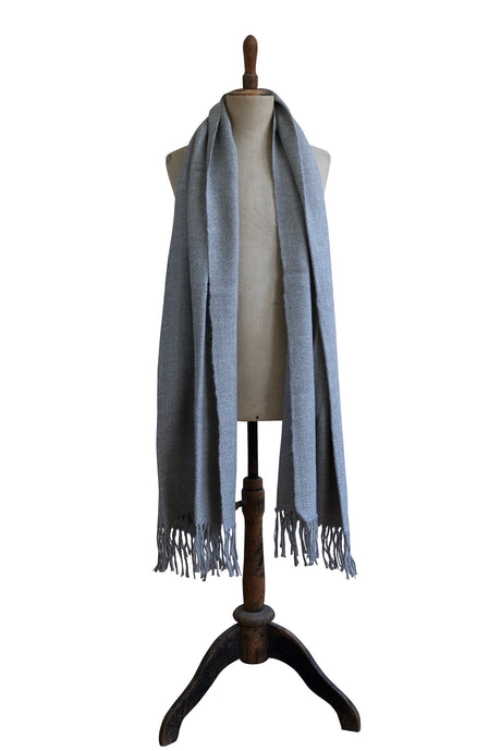 Large light gray scarf