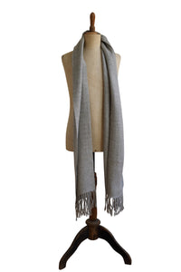 Medium light gray scarf