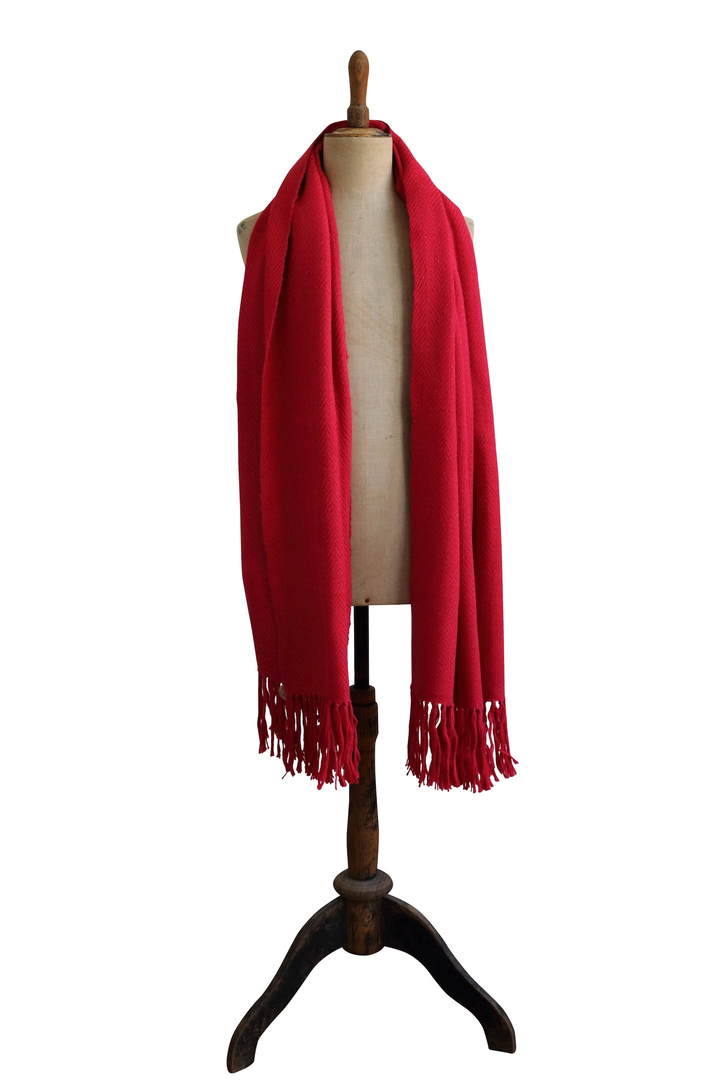 Large red scarf