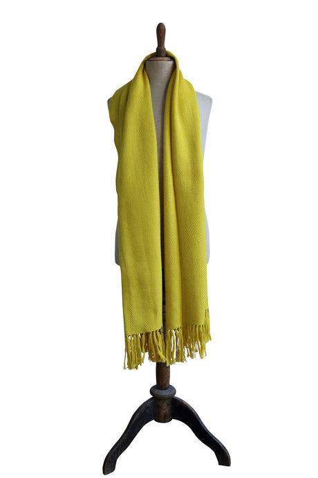 Large yellow scarf