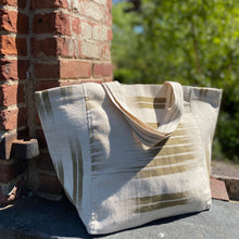 Load image into Gallery viewer, Handwoven cotton bag Beige/Kaki