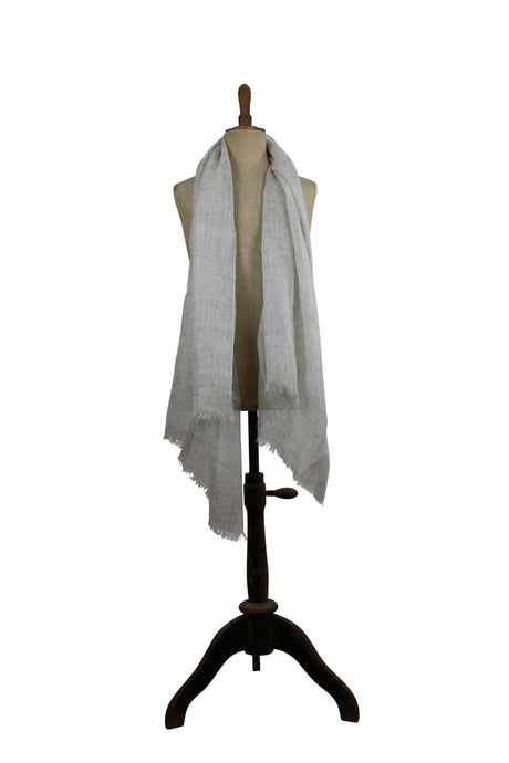 Linen  scarf - light gray