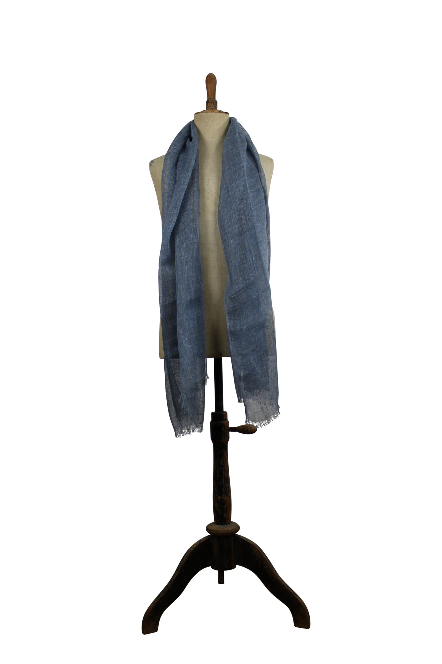 Linen  scarf - light blue