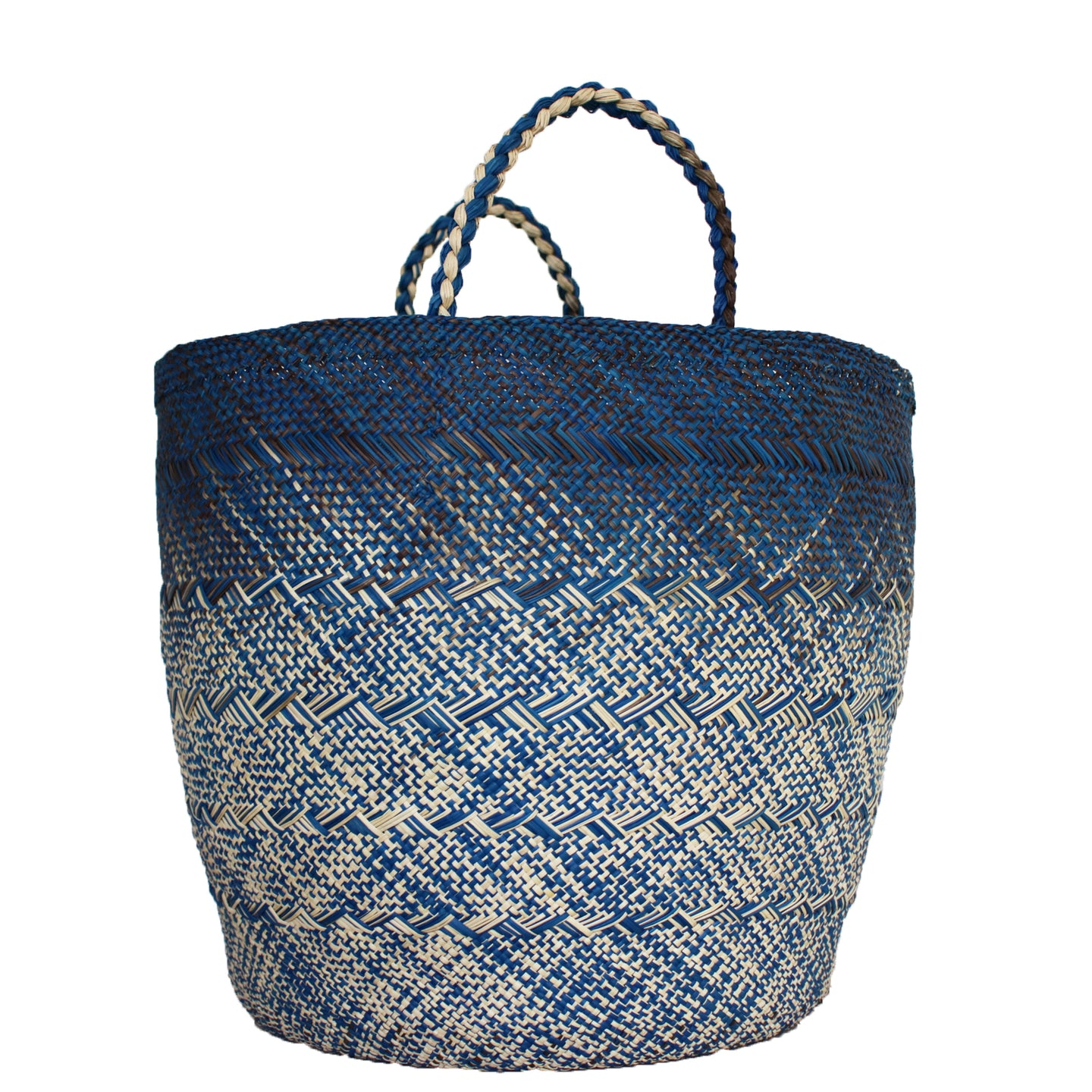 Large Blue/Gray/Natural Basket