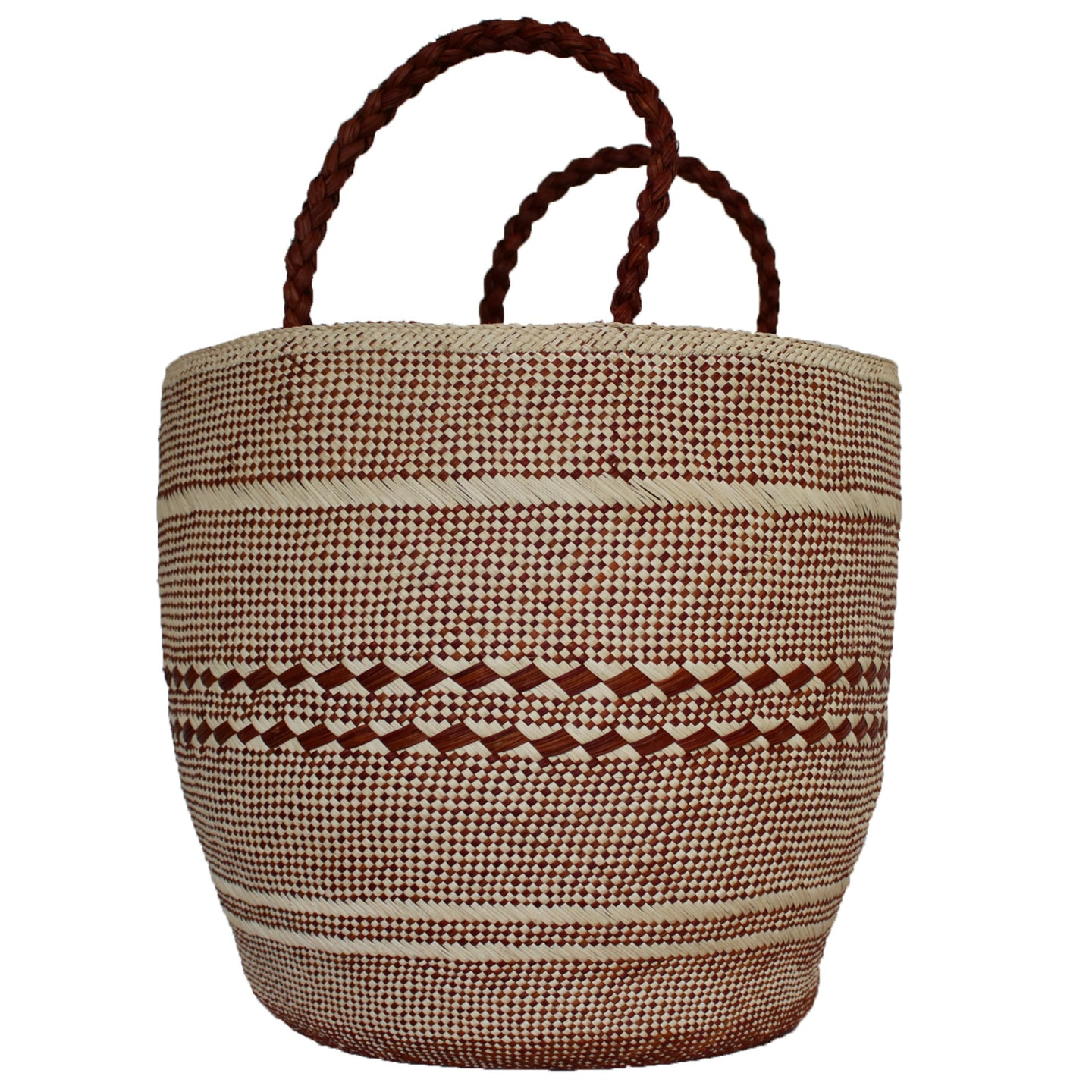 Large Red/Natural Basket