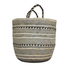 Load image into Gallery viewer, Large Natural/Black Palm Basket