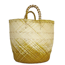 Load image into Gallery viewer, Large Yellow/Natural Basket
