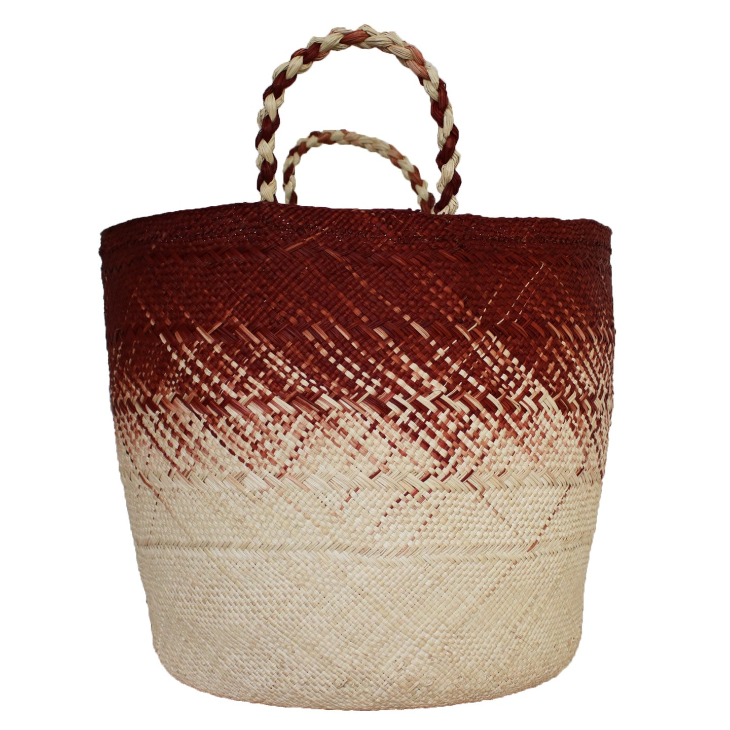 Large Brick Red/Natural Basket