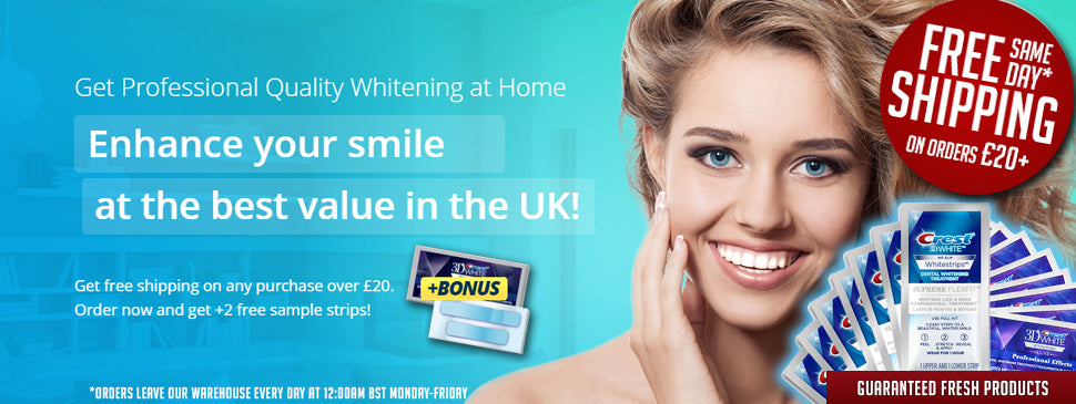 Crest Whitestrips With Free Shipping In Uk Purewhiteningstrips Co Uk