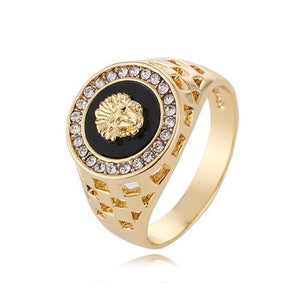 Gold Plated Lion Ring **FREE** worldwide Shipping