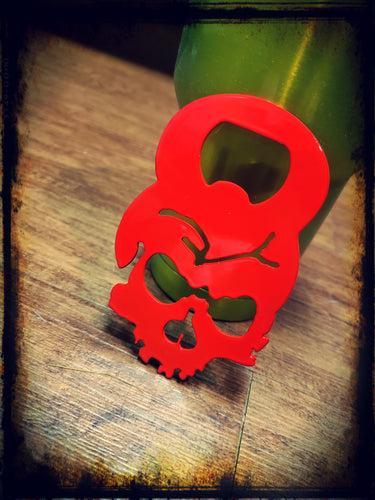 Fractured Skull Bottle Opener