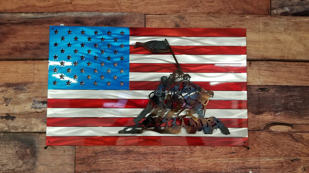 Iwo Jima Metal Flag