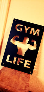 GYM LIFE Metal Sign