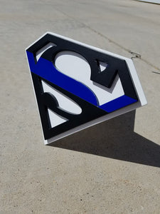 Superman Hitch Cover Thin Blue Line