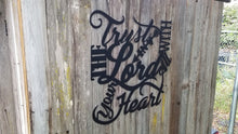Proverbs 3:5 Wall Art Flat Black
