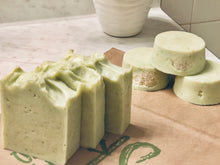 Load image into Gallery viewer, Organic Loofah Aloe Cucumber Mint Soap Bar