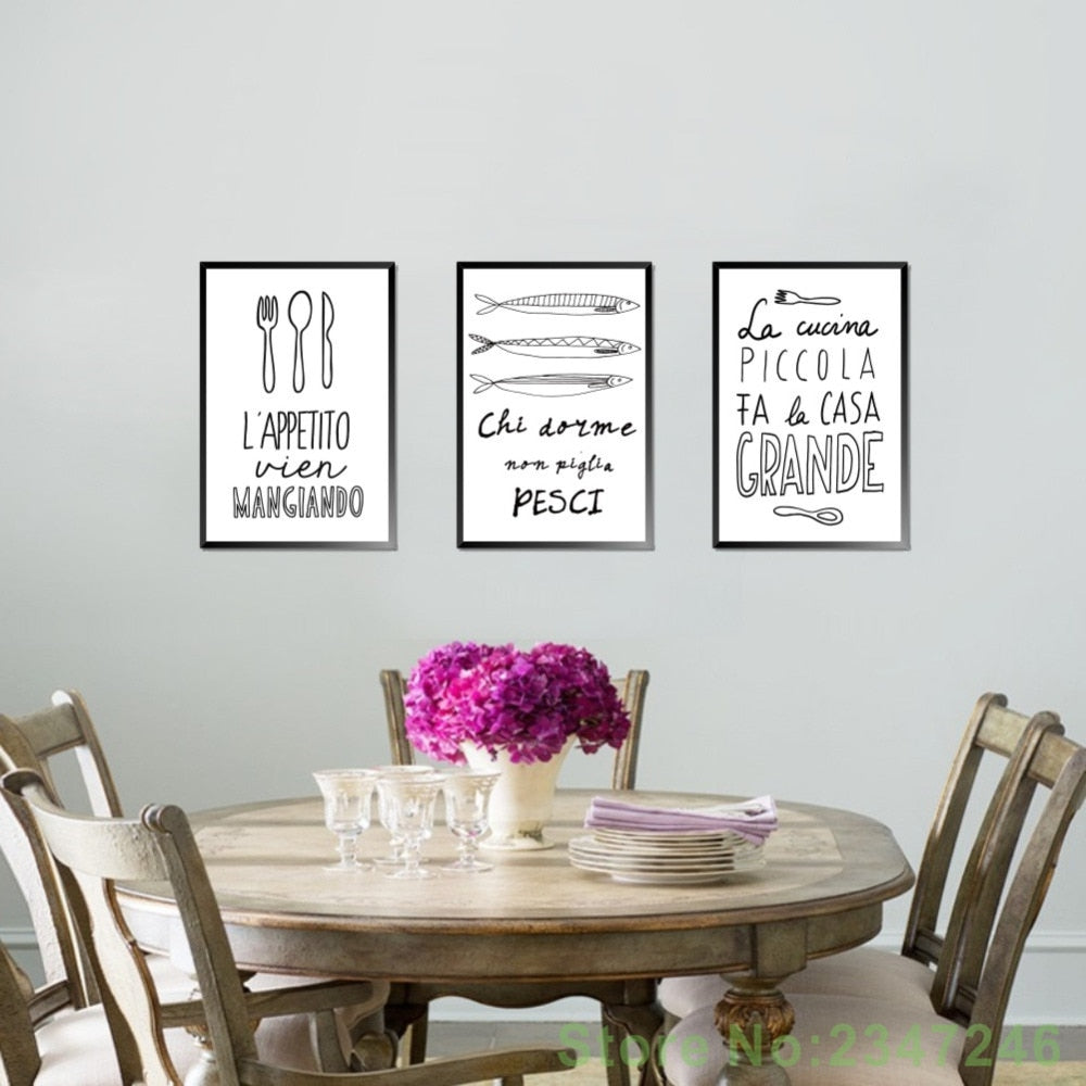 Canvas Wall Art Quote Wall Art For Kitchen Poster Wall Art Décor
