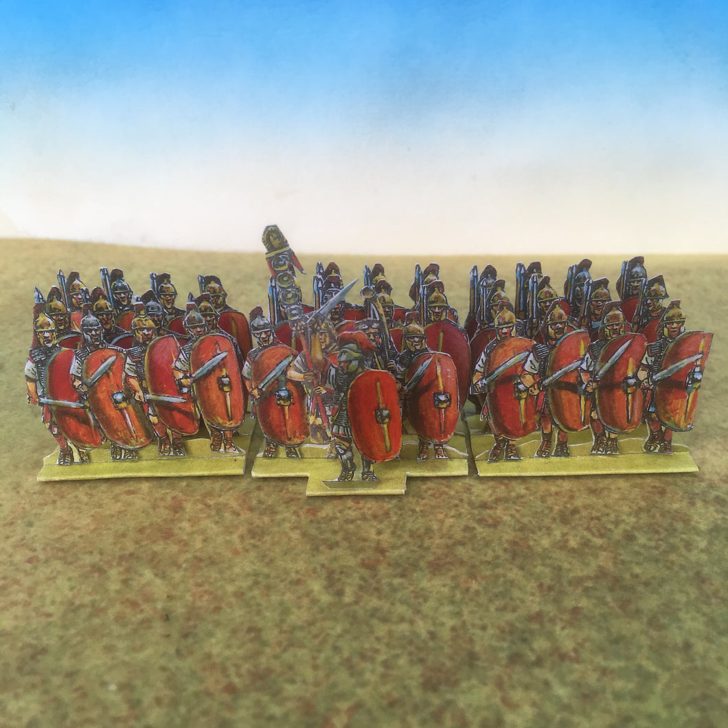 Red Plain Shield Infantry