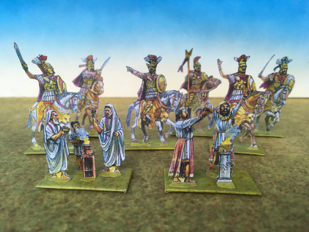 Commanders, Elephant towers and Priests