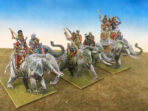 Carthaginian African Elephants (From the side)