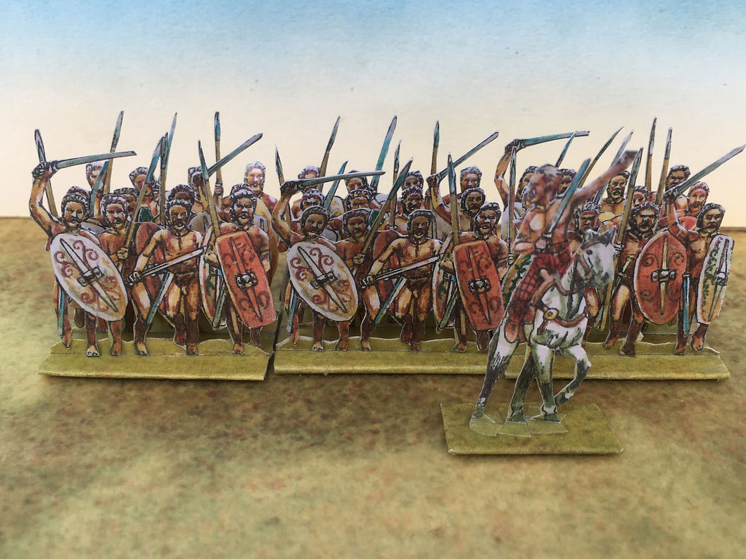Gaesati. Naked Gallic Mercenary Infantry