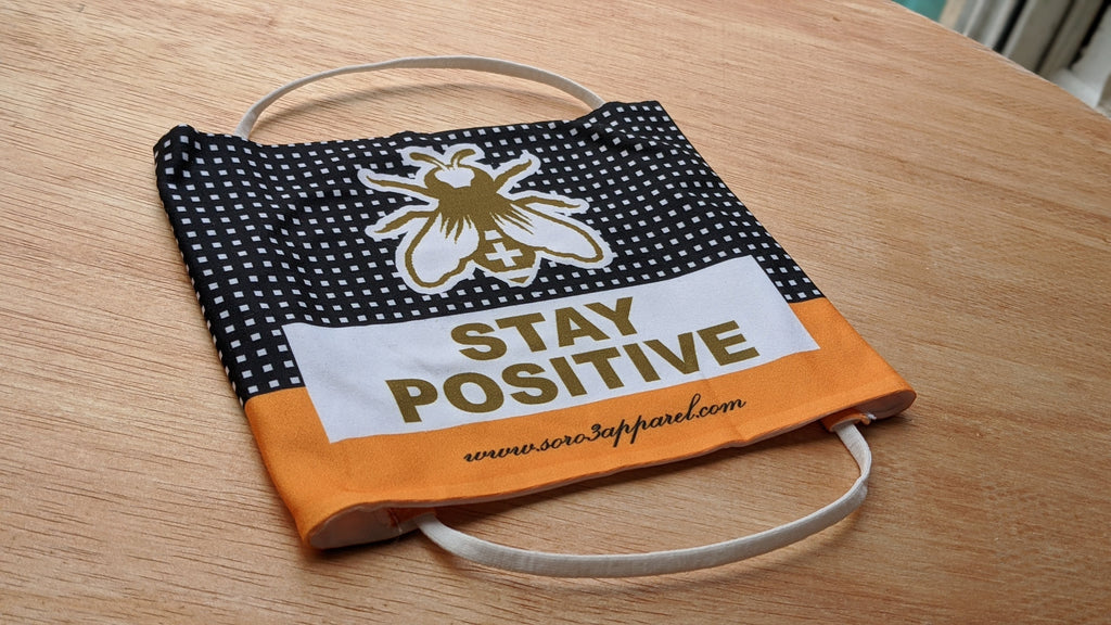 Face Mask - Stay Positive Cigar Box
