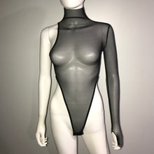 Load image into Gallery viewer, Turtleneck Mesh Bodysuit