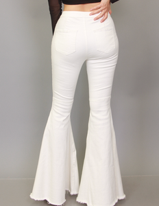 La Flare White Denim
