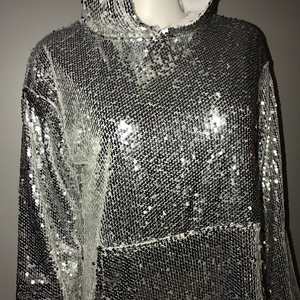 SEQUIN HOODIE DRESS