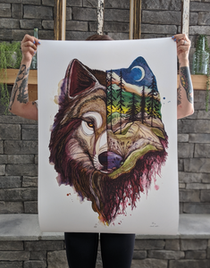 NIGHT WOLF -LARGE/XL