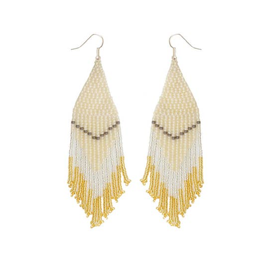 Fosterie: Champagne Beaded Earrings