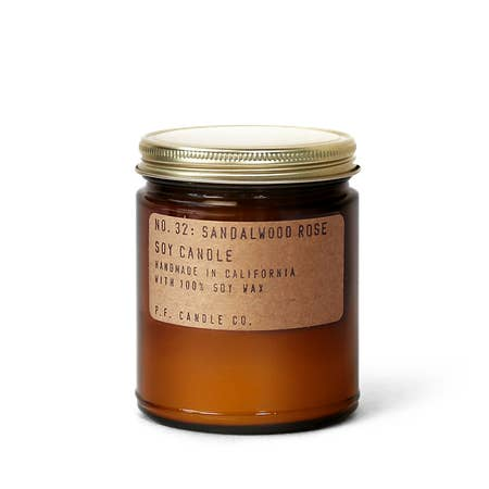 P.F. Candle Co.: Sandlewood Rose Soy Candle