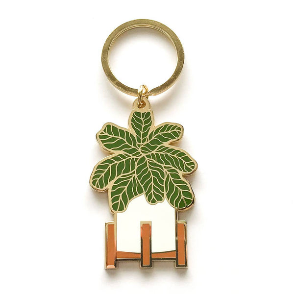 Paper Anchor Co: Fiddle Leaf Fig Keychain