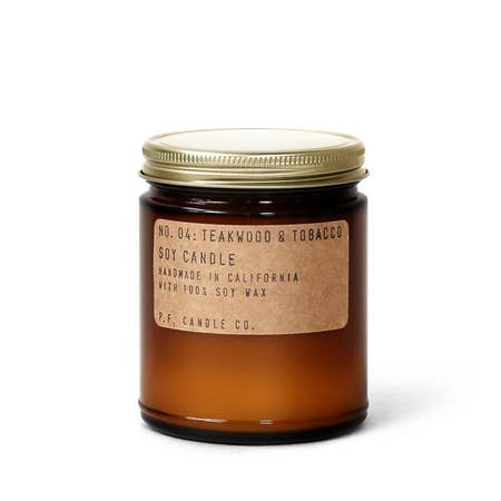P.F. Candle Co.: Teakwood & Tobacco Soy Candle
