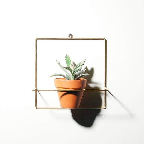 NewMade LA: Square Wall Planter in Brass