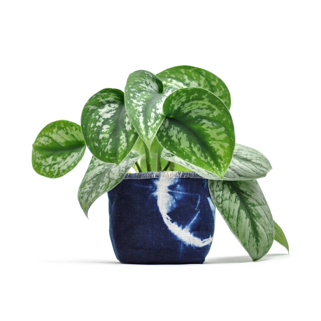 Gray Green Goods: Shibori Indigo Fabric Planter