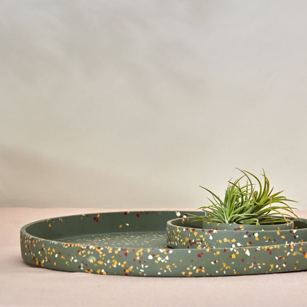Capra Designs: Large Terrazzo Tray in Agave